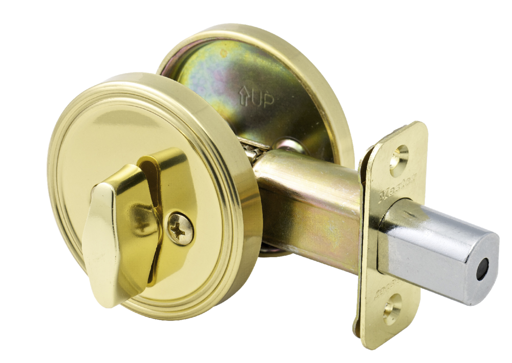 Polished Brass Deadbolt One Sided Apartment Door Locks