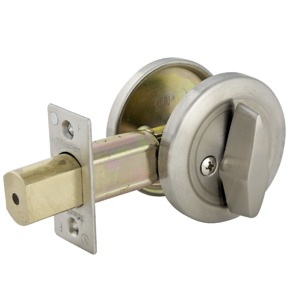 Commercial One Sided Cylinder Deadbolt In Brushed Chrome