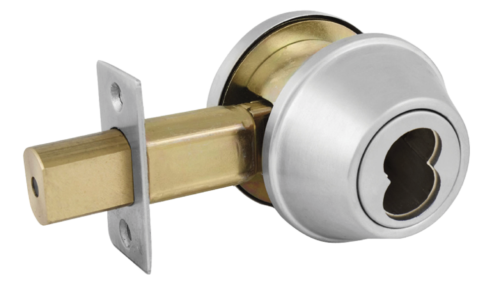 Double Cylinder Deadbolt For Sfic Ic Core In Brushed